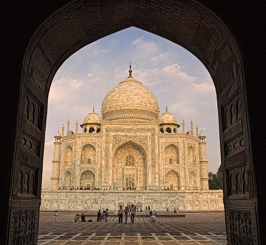 Taj Mahal Arch View Photograph By Kim Andelkovic