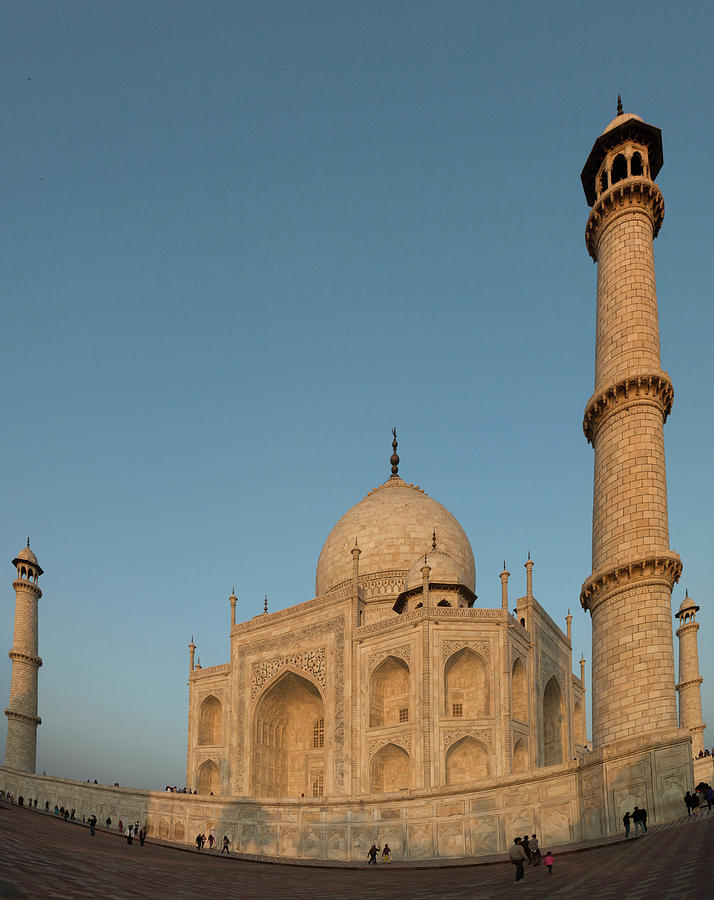 15th Century Photograph - Taj Mahal At Sunset by Tom Norring