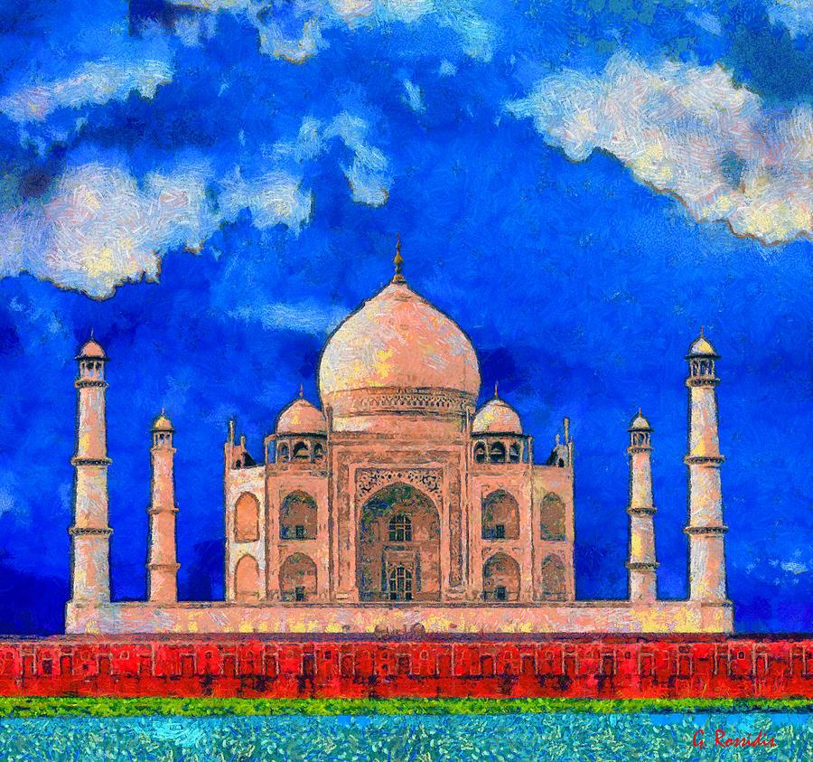 Taj Mahal Painting by George Rossidis