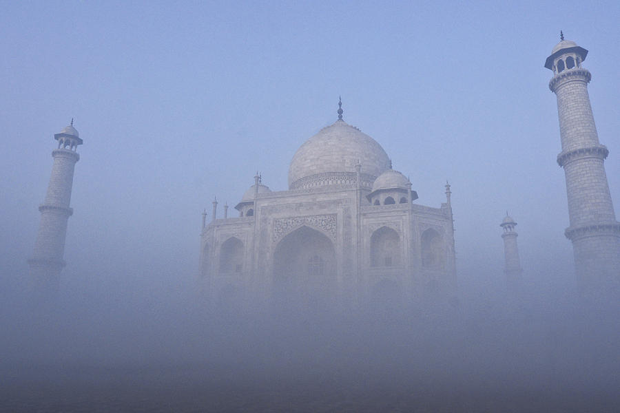 India Photograph - Taj Mahal In The Mist by Michele Burgess