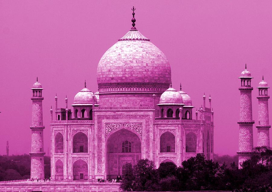 Taj Mahal Photograph - Pink Taj Mahal, Agra, India by Aidan Moran