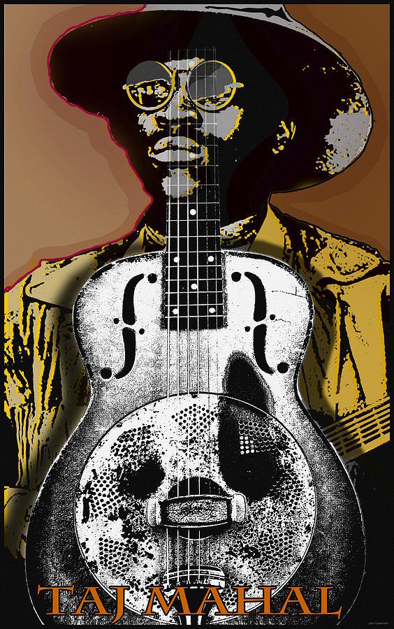 Music Digital Art - Taj Mahal by Larry Butterworth