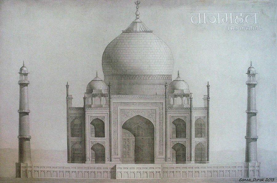 Mahal Painting - Taj Mahal by Maria Degtyareva