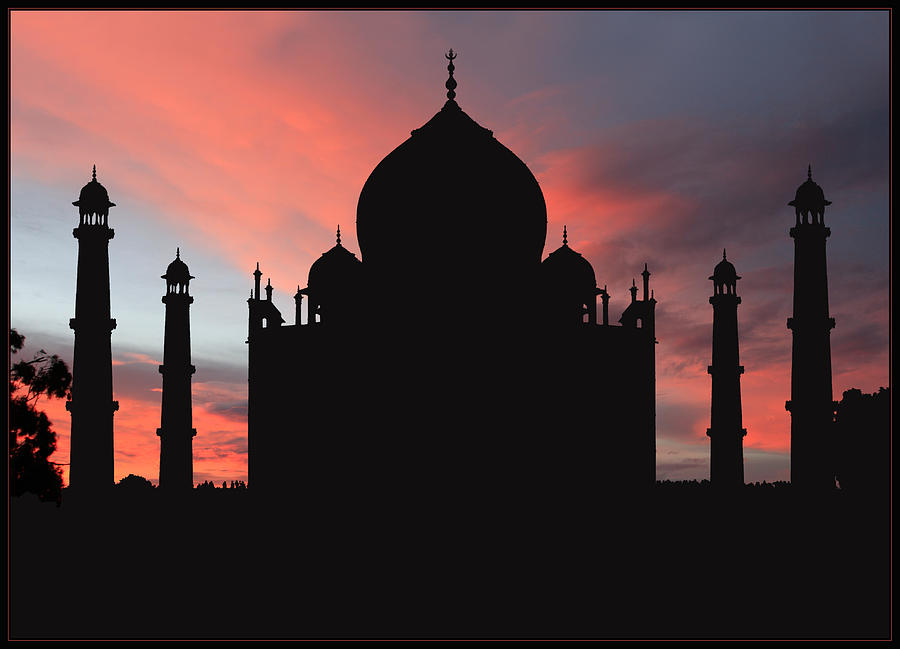 Taj Mahal Photograph - Taj Mahal Silhouette by Kim Andelkovic