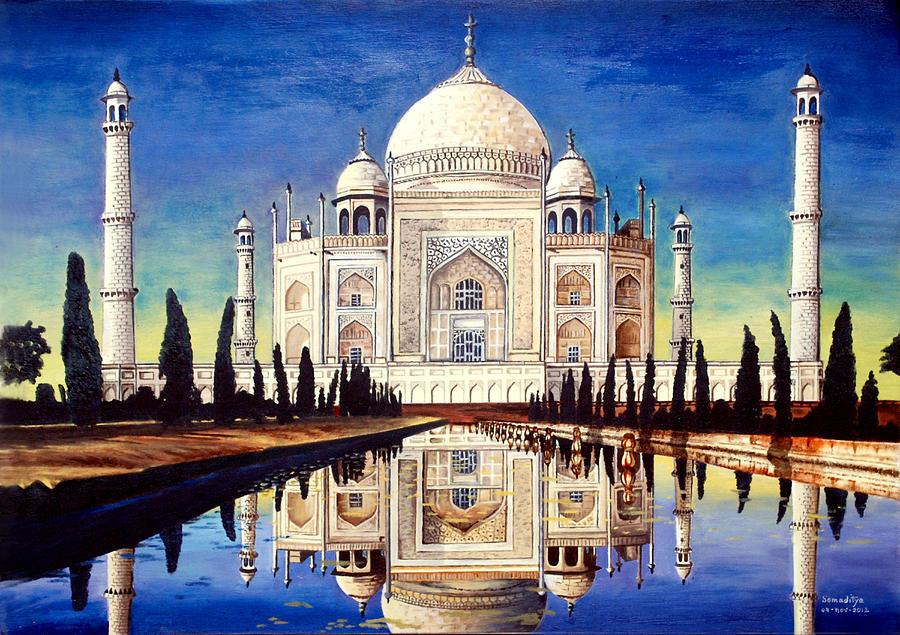 Taj Mahal Painting by Somaditya Das