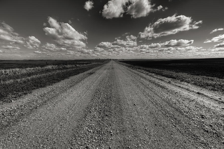 Willow Lake Photograph - Take A Back Road Bnw Version by Aaron J Groen