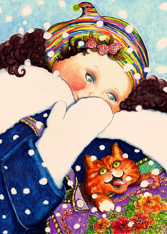 Snow Painting - Take A Snow Day by Deborah Burow