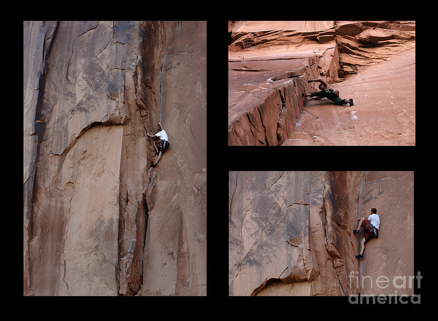 Climbing Photograph - Take Action No Caption by Bob Christopher