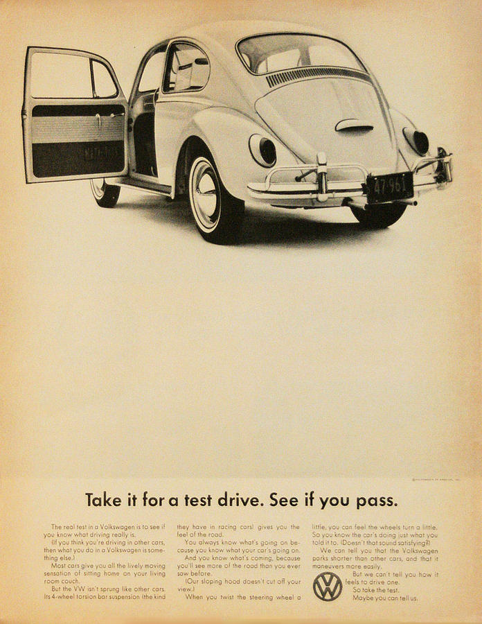 Volkswagen Beetle Digital Art - Take It For A Test Drive by Georgia Fowler