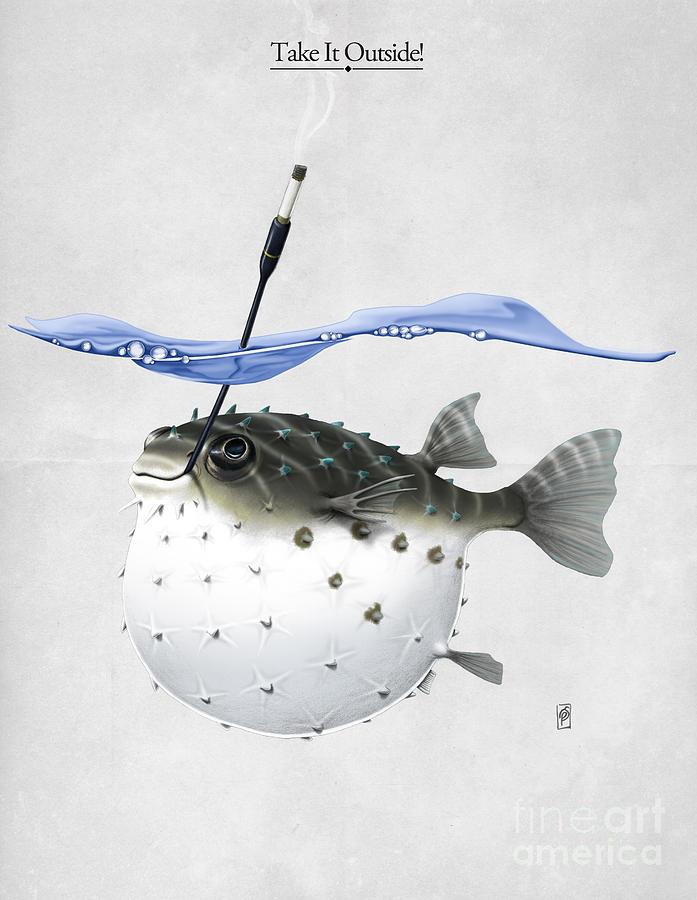 Illustration Digital Art - Take It Outside by Rob Snow