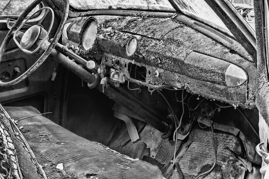 Car Photograph - Take Me For A Ride Bw by JC Findley