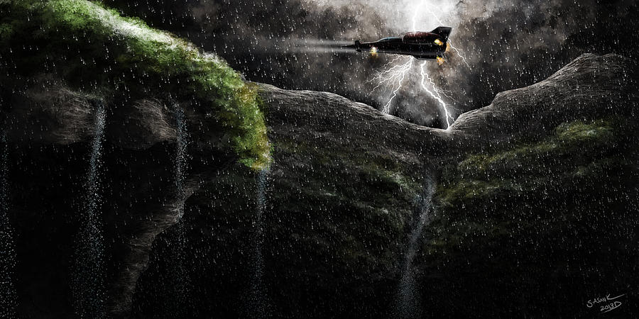 Storm Digital Art - Take-off by Sasank Gopinathan