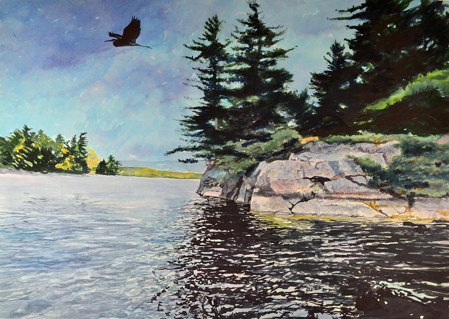 Bird Painting - Take Off by Thomas Stratton