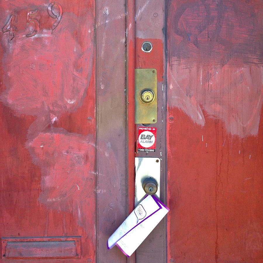 Door Photograph - Take-Out Menu by Julie Gebhardt