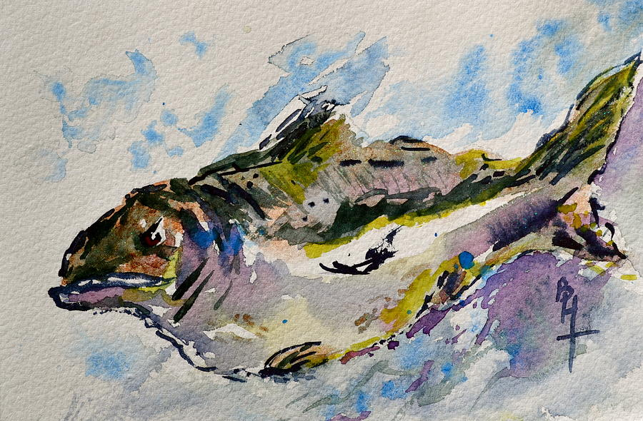 Fish Painting - Take The Bait by Beverley Harper Tinsley