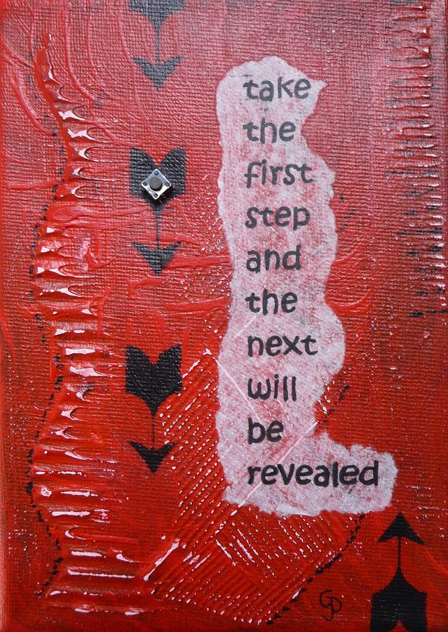 Inspirational Painting - Take The First Step by Gillian Pearce