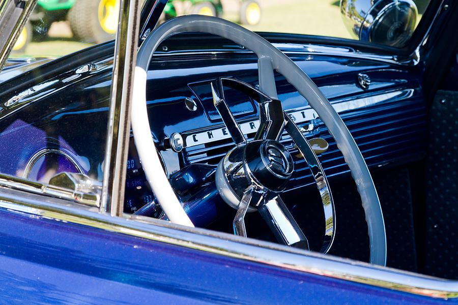 Steering Wheel Photograph - Take The Wheel by Bernard  Barcos