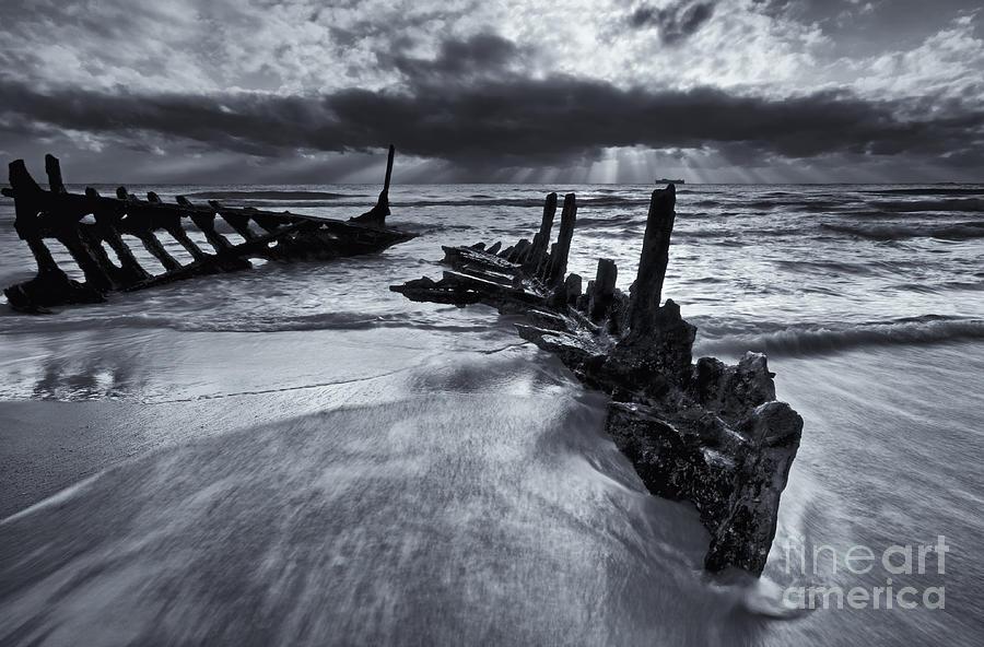 Shipwreck Photograph - Taken By The Sea by Mike  Dawson