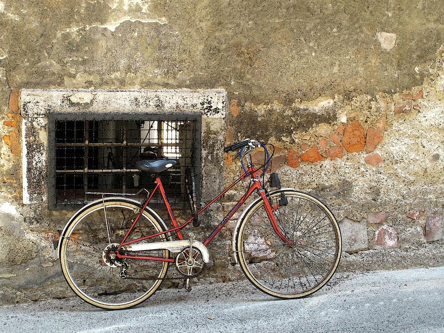 Bike Photograph - Taking A Break by Douglas J Fisher