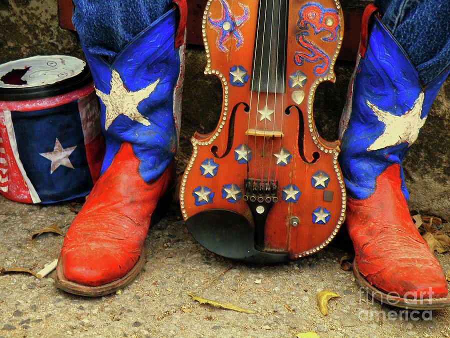 Lone Star Texas Boots Photograph - Taking A Breather by Joe Jake Pratt