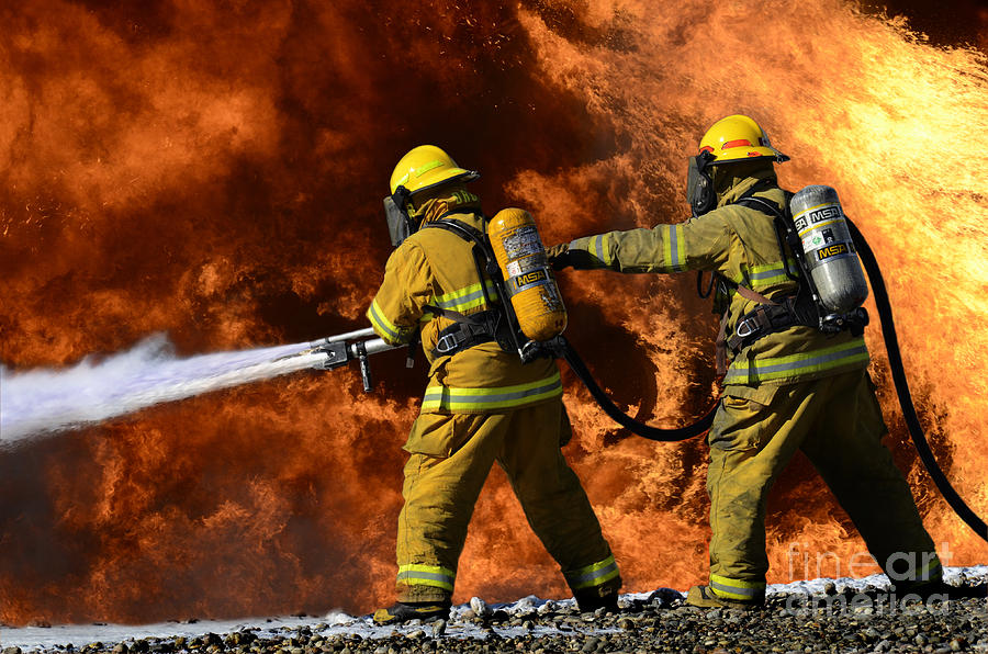 Firefighters Photograph - Taking A Stand by Bob Christopher