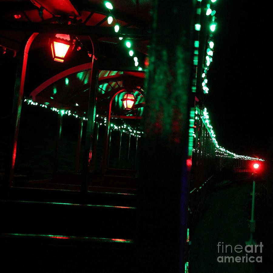 Train Photograph - Taking In The Lights Riding The Rails by Scott Allison