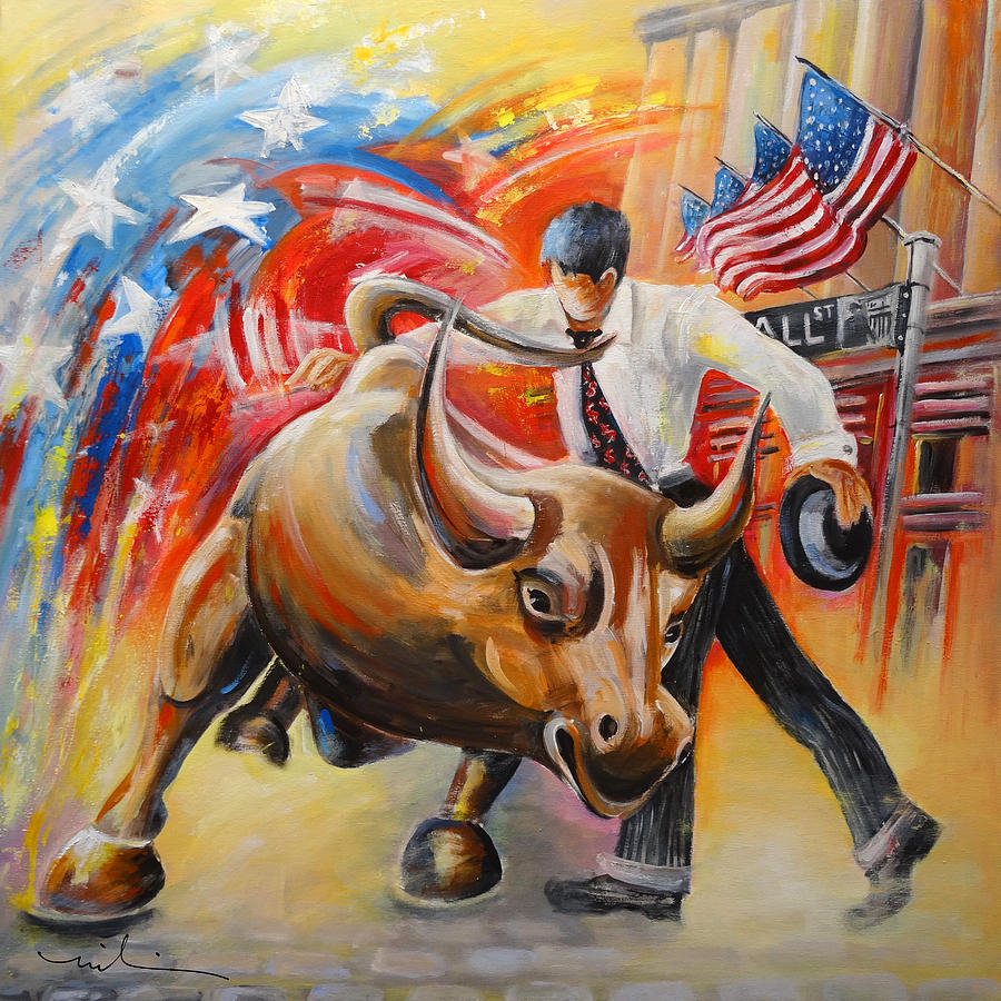 Wall Street Bull Art taking on the wall street bull paintingmiki de goodaboom