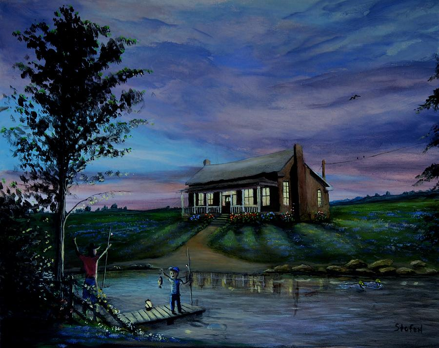 Country Painting - Taking Time by Stefon Marc Brown