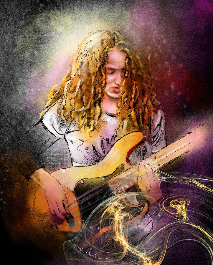 Music Painting - Tal Wilkenfeld by Miki De Goodaboom