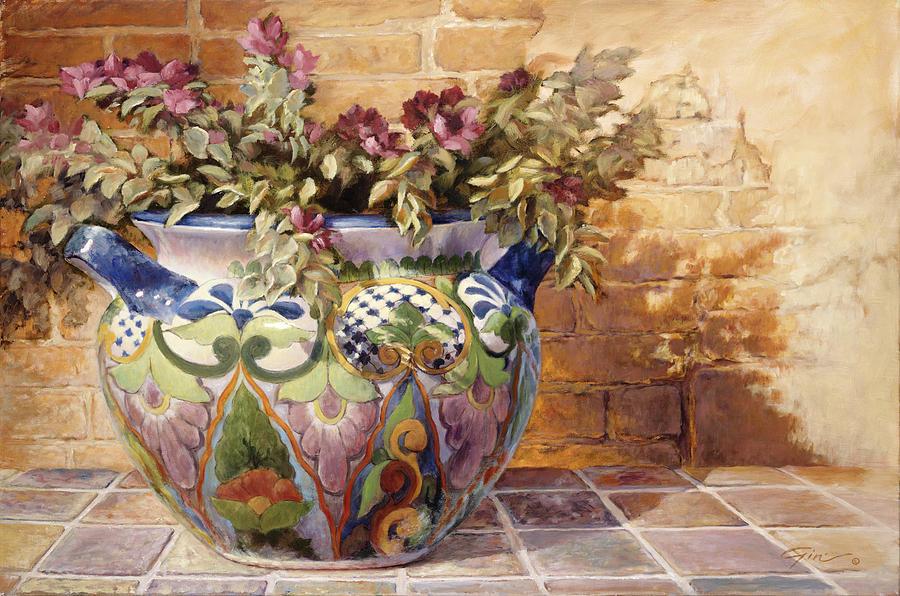 Still Life Painting - Talavera Morning by Gini Heywood