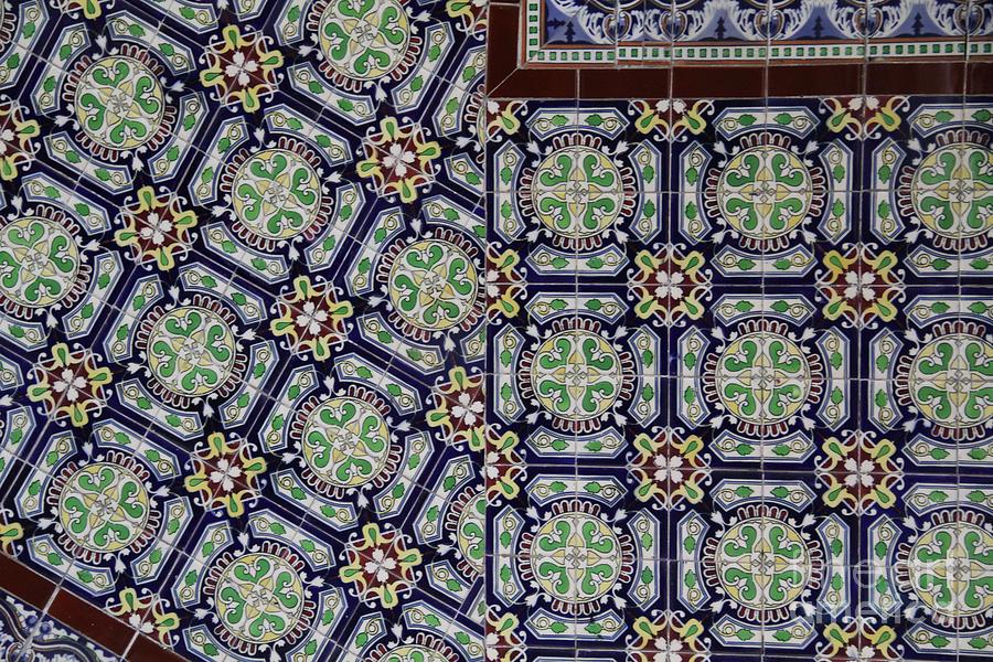 Colonial Architecture Photograph - Talavera Tile Puebla by Linda Queally