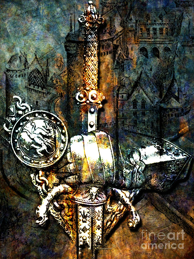 Knights Mixed Media - Tales Of Chivalry by Tammera Malicki-Wong