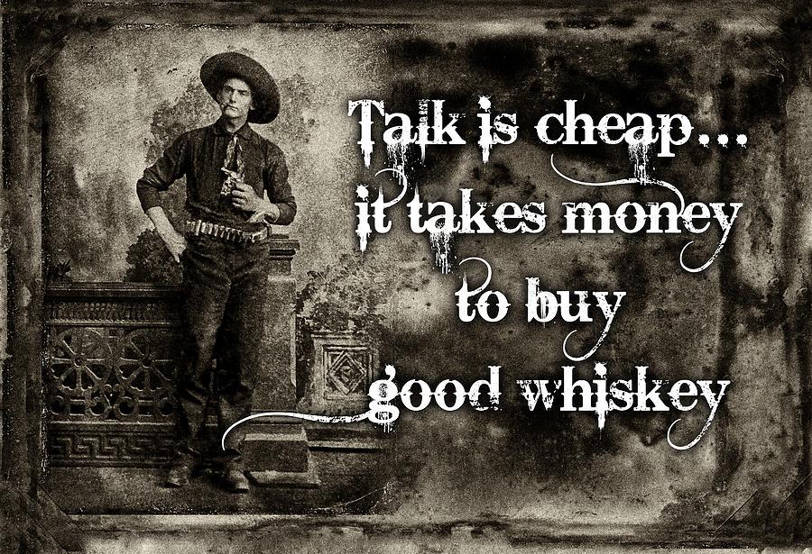 Antique Photograph - Talk Is Cheap by Robert Hudnall