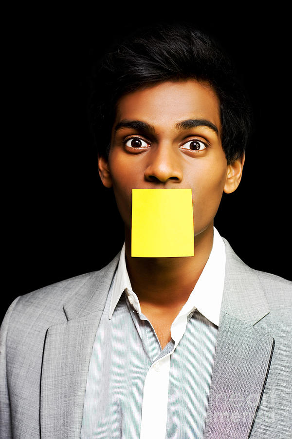 Adhesive Photograph - Talkative Forgetful Office Worker by Jorgo Photography - Wall Art Gallery