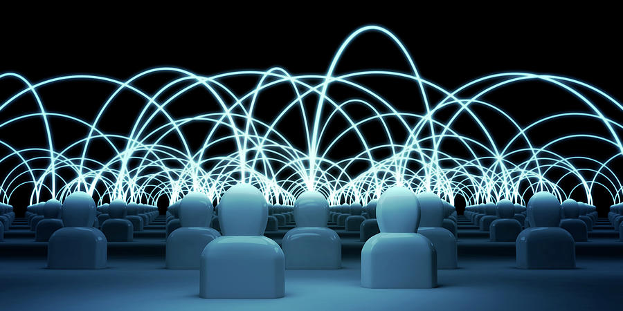 Talking Heads - Blue1 Digital Art by Mmdi