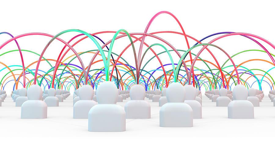 Talking Heads - Multicolour1 Digital Art by Mmdi
