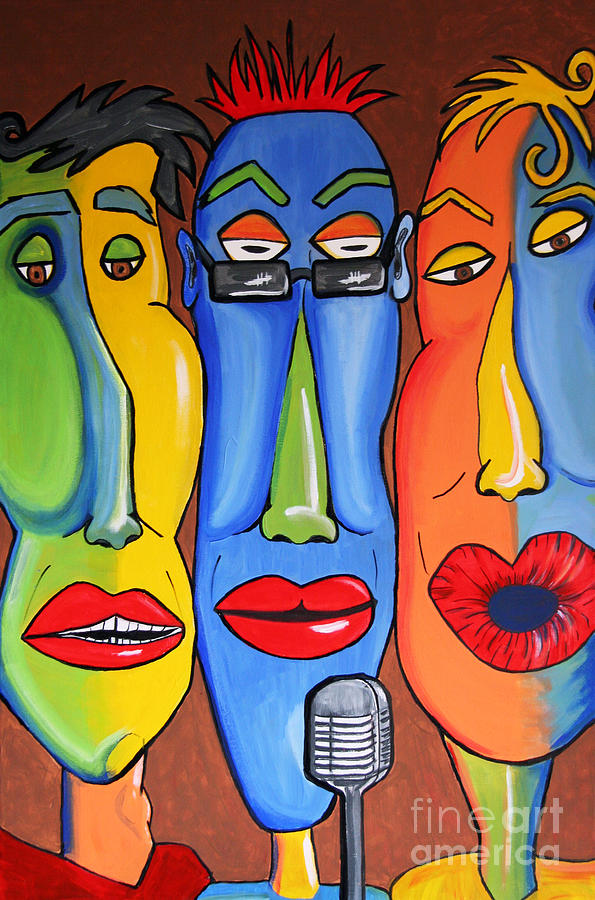 Acrylic Painting - Talking Heads by Vickie Scarlett-Fisher