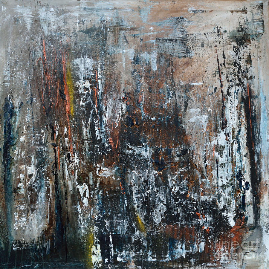 Abstract Painting - Talking To A Ghostfriend by Ismeta Gruenwald