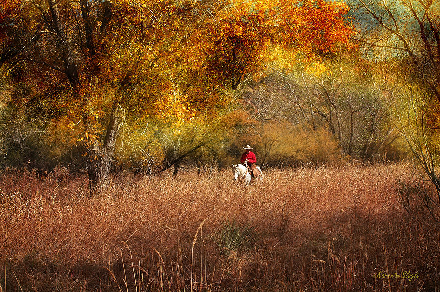 Horse Photograph - Tall Grass by Karen Slagle