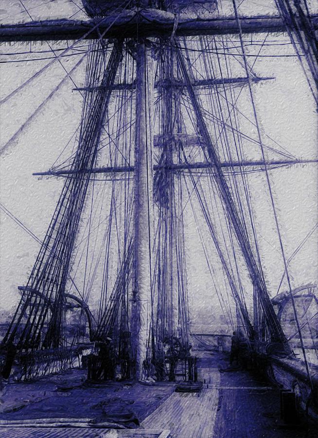 Tall Painting - Tall Ship 2 by Jack Zulli