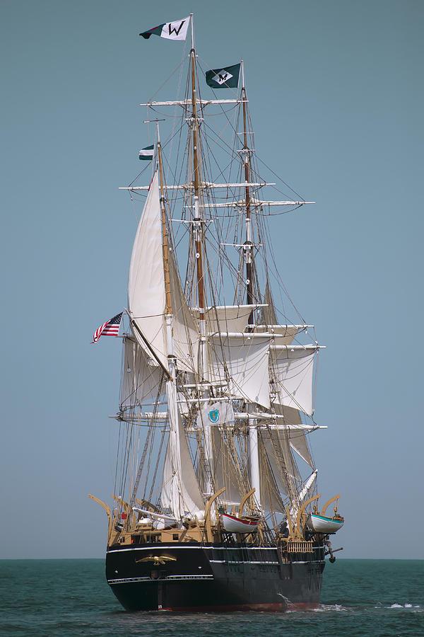 Tall Ship Photograph - Tall Ship Charles W Morgan by Dapixara Art