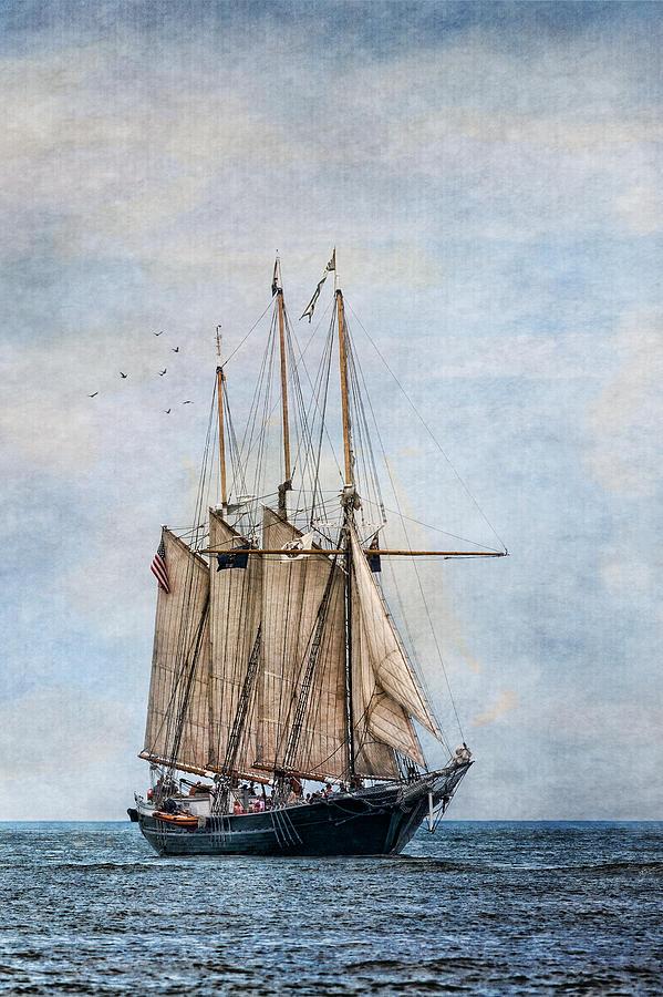 Denis Sullivan Photograph - Tall Ship Denis Sullivan by Dale Kincaid