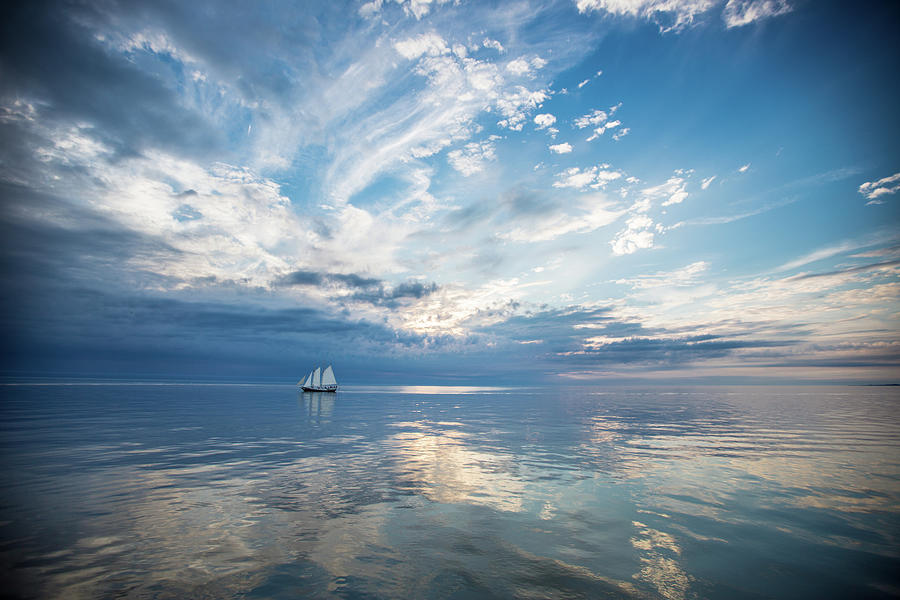 Tall Ship On The Big Lake Photograph by Rudy Malmquist