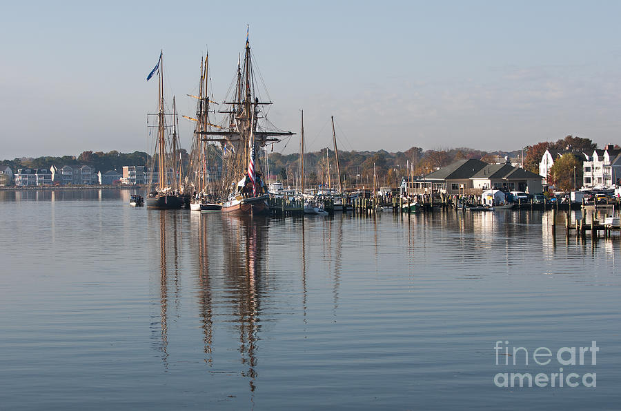 2013 Photograph - Tall Ship Reflection b by Lauren Brice