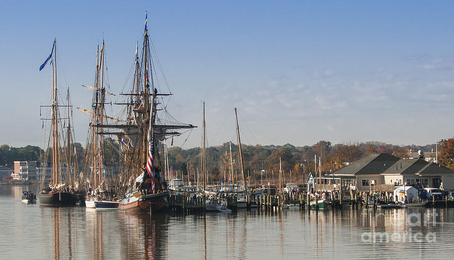 2013 Photograph - Tall Ship Reflection by Lauren Brice
