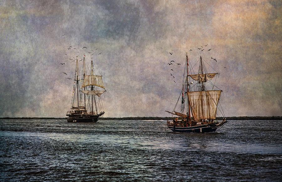 Tall Ships Photograph - Tall Ships by Dale Kincaid