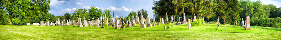 Rustic Photograph - Tall Tombstones Panorama by Thomas Woolworth