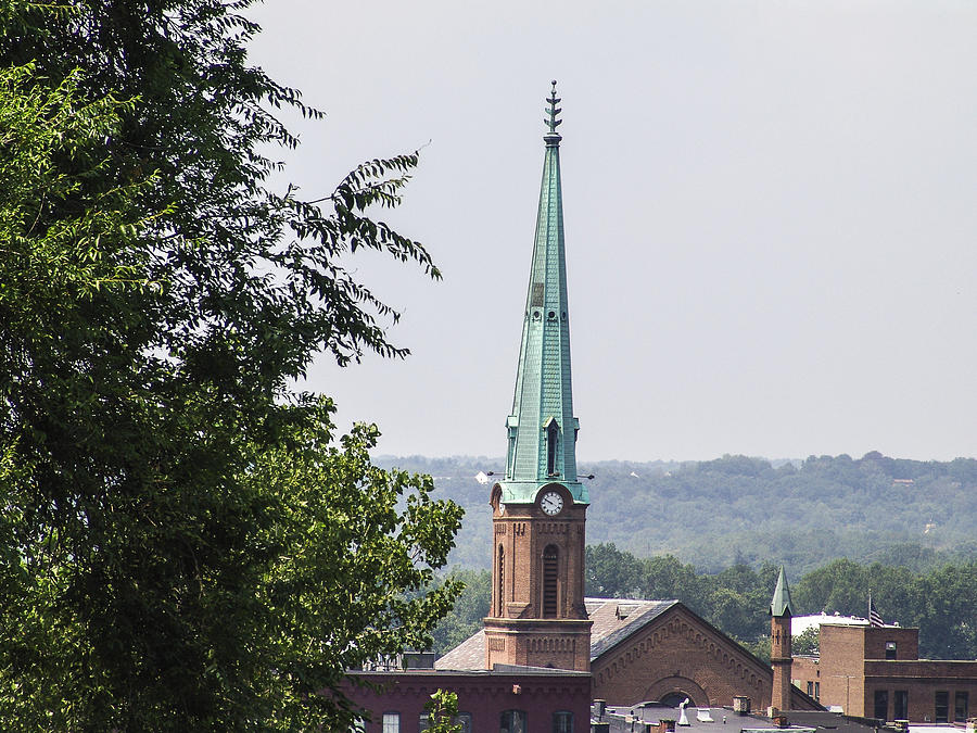 Troy Photograph - Tall Troy Steeple by Eric Swan