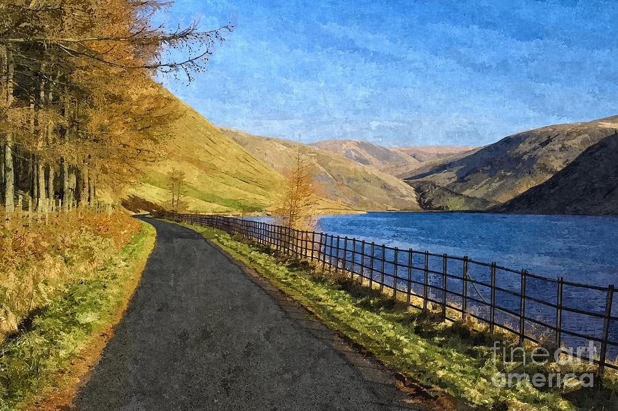 Talla Reservoir Scottish Borders Photo Art by Les Bell