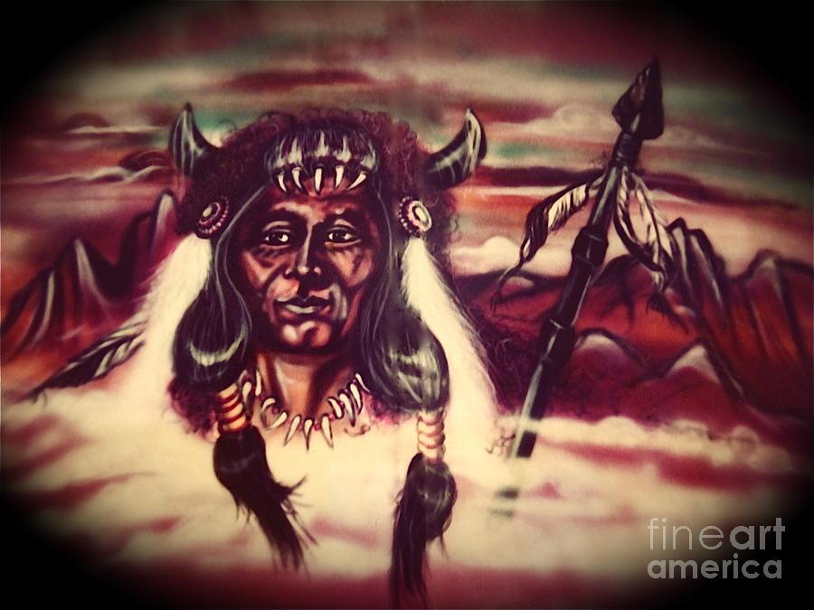 Indian Painting - Tallchief by Linda Simon